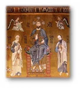 29 Giugno 2014 Santi Pietro e Paolo Palermo - La Cappella Palatina - Cristo affiancato dai SS. Pietro e Paolo