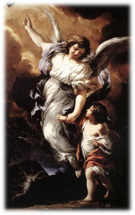 Egli per te darà ordine ai suoi angeli di custodirti in tutte le tue vie. Sulle mani essi ti porteranno, perché il tuo piede non inciampi nella pietra. Salmo 91 (90)