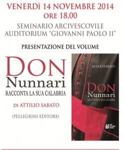 """Don Nunnari racconta la sua Calabria"""