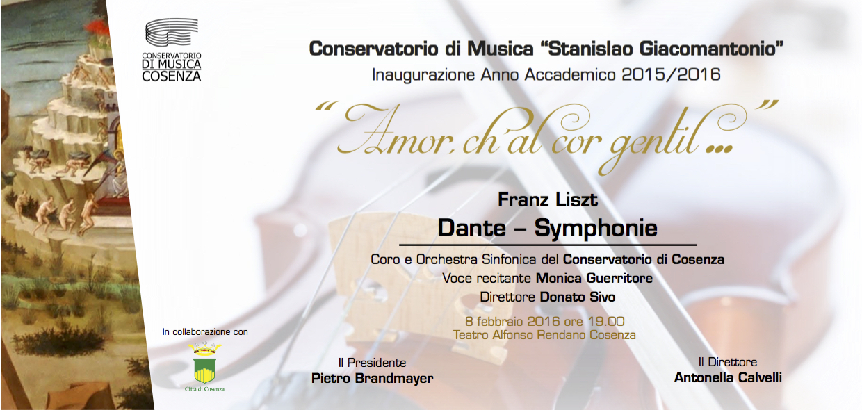 Invito Concerto Inaugurazione A.A. 2015.2016