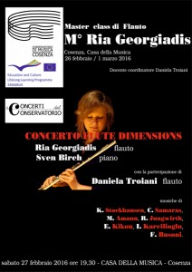 LOCANDINA  _ concerto + masterclass 27 febbraio 2016