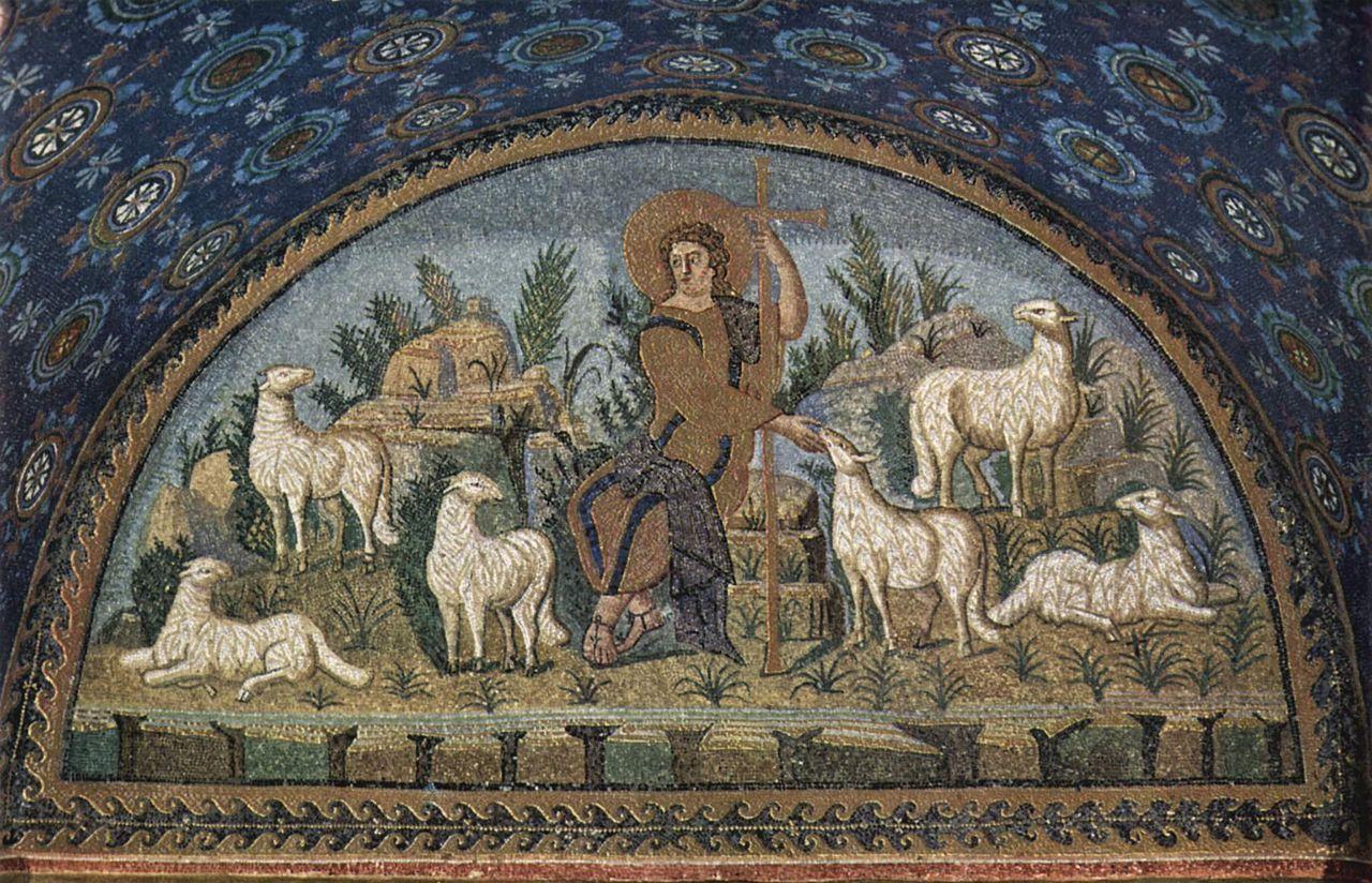 """Lunetta del """"buon Pastore"""" Mausoleo di Galla Placidia"""
