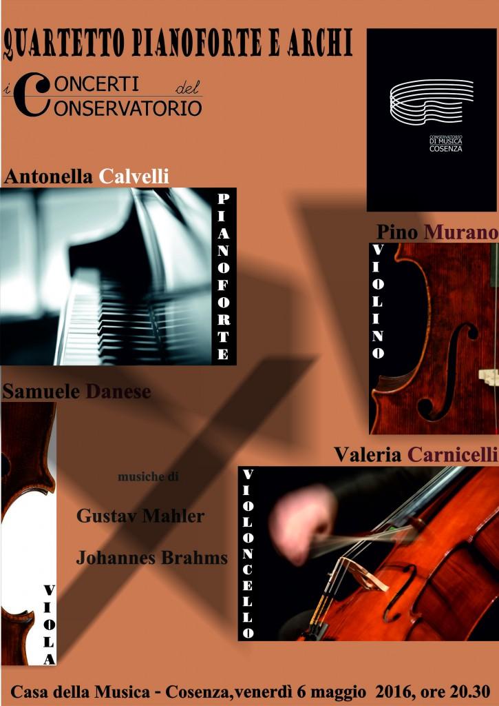 LOCANDINA  _ concerto QUARTETTO PIANOFORTE E ARCHI_6 maggio