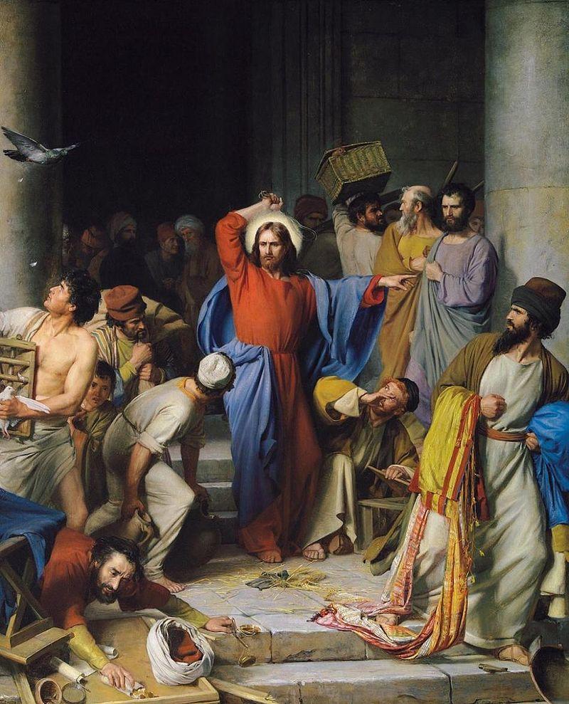 Cacciata dei venditori dal Tempio, opera di Carl Heinrich Bloch,