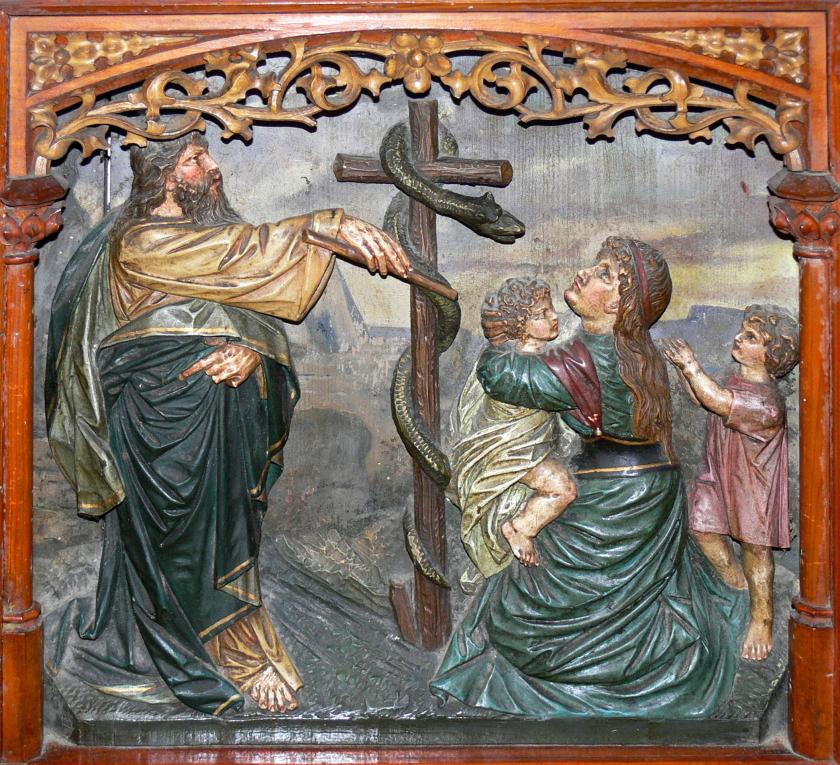 Mosè e il serpente di rame, Altare della chiesa di San Nicola ad Haslach an der Mühl (Austria)