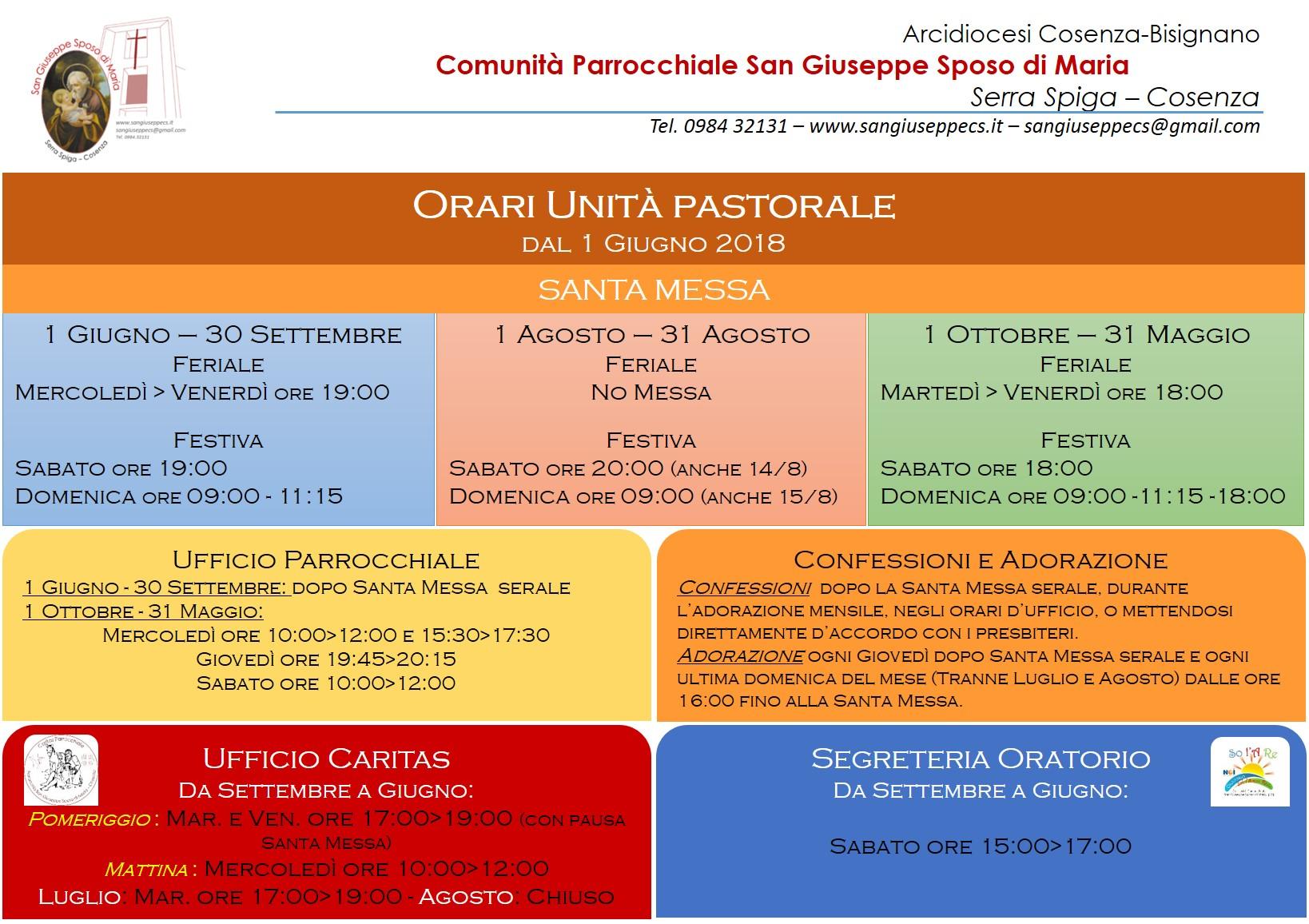 NuoviOrari San Giuseppe