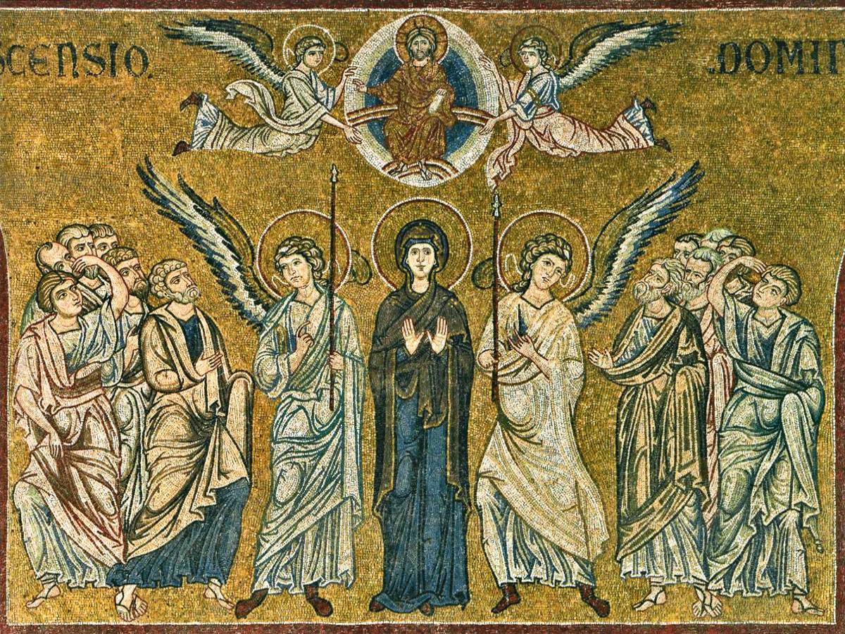 L'Ascensione nei mosaici del Duomo di Monreale (XII secolo)