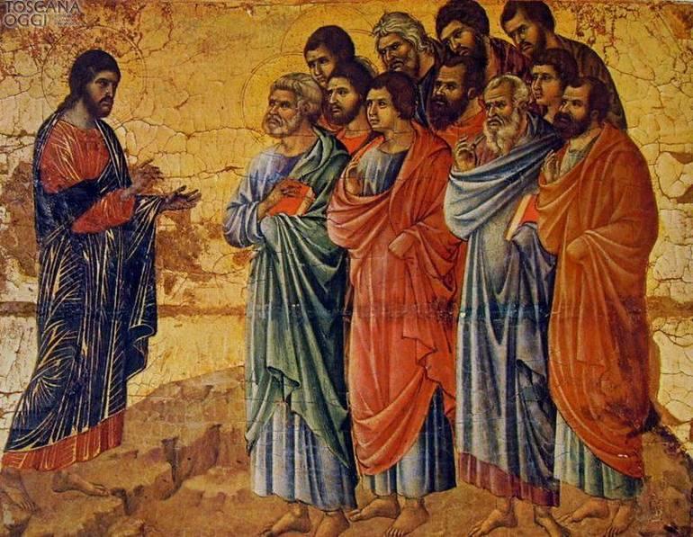 Duccio - Gesù con Apostoli