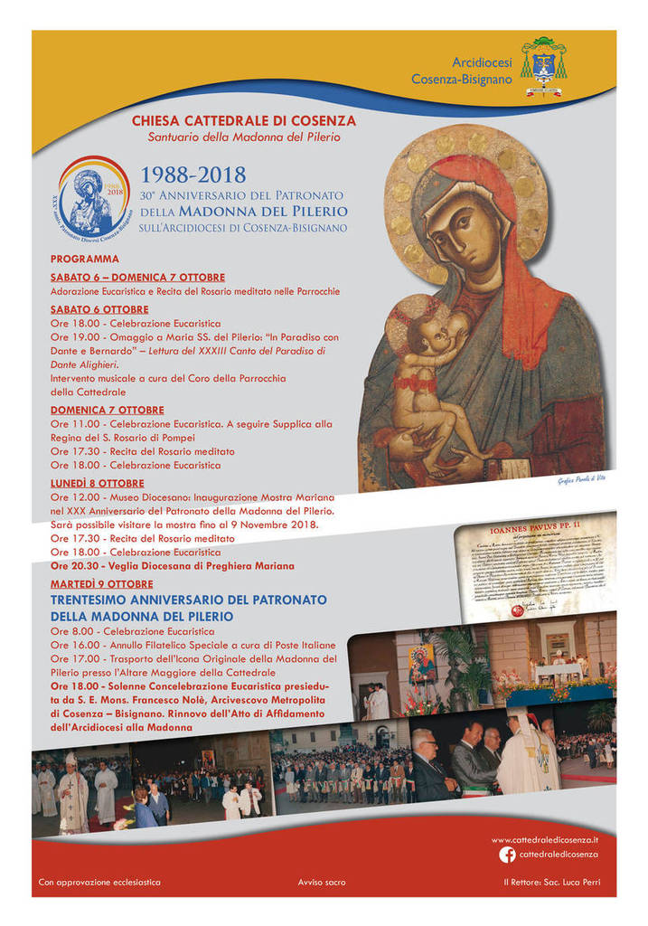 30-anniversario-del-Patronato-della-Madonna-del-Pilerio-sull-Arcidiocesi-di-Cosenza-Bisignano_articleimage