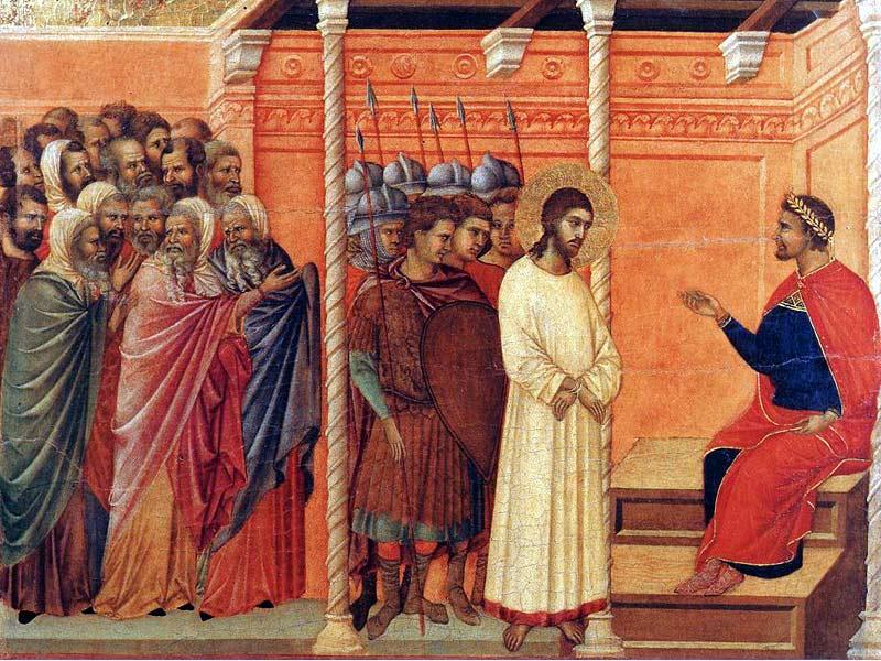 Duccio di Buoninsegna: Cristo davanti ad Erode, Museo dell'Opera del duomo, Siena.