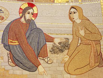 Gesù con l'adultera - CHIESA DI TUTTI I SANTI A LJUBLJANA