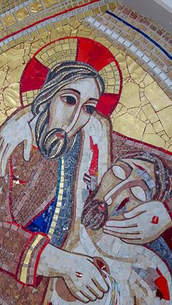 Gesù abbraccia il moribondo - Associazione-Il-Samaritano-Codogno-Italia-
