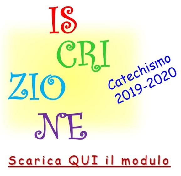 Catechismo 2019-2020 - Scarica il modulo d'iscrizione