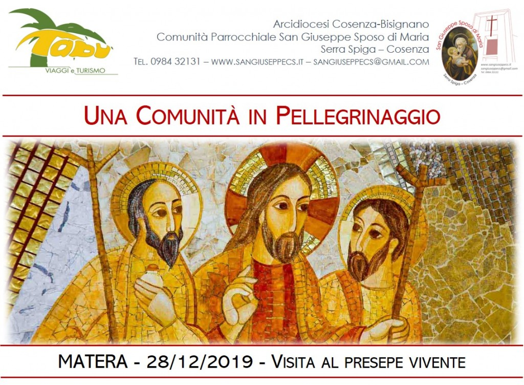 Pellegrinaggio a Matera: 28/12/2019
